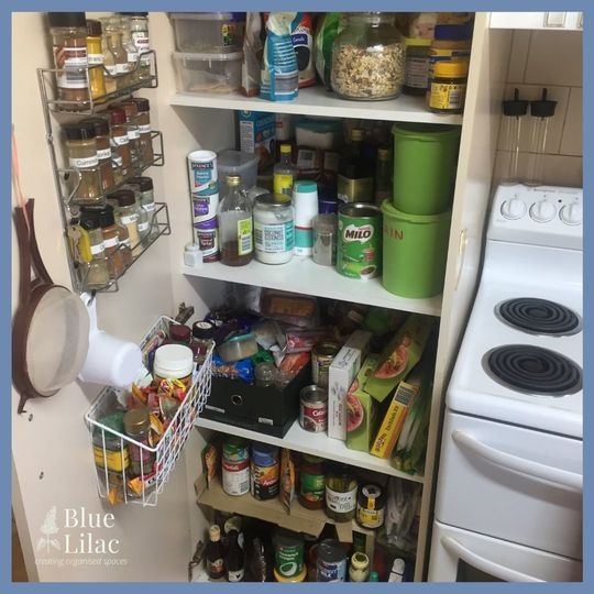 Picture of a pantry before organising