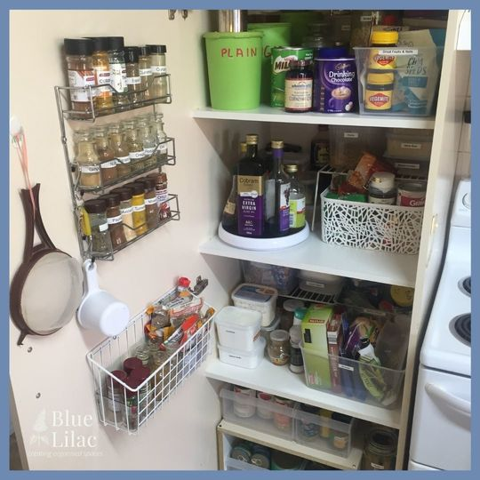 An organised after photo of a pantry